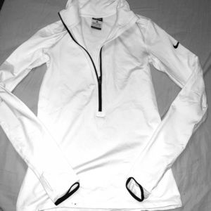Small White Nike pull over